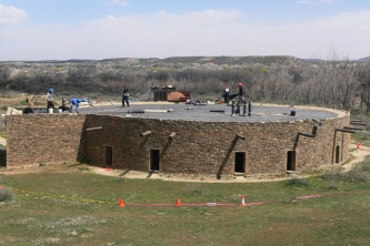Work on the Grand Kiva