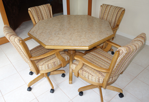Dining Room Chairs With Casters Piece Rectangular Dining Set  Mangocasterchair Arms Octotable Classic Dinette Set Octo Table Classic  DinetteDining Room Sets  Dining Room Sets With Casters Chairs  280 Caster Chairs with 42 x  . Dining Room Table Caster Chairs. Home Design Ideas