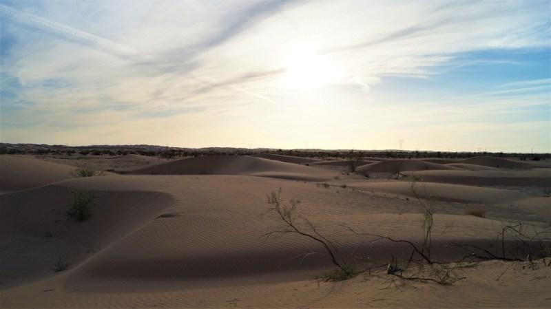 Sonnenuntergang kalifornische Wüste