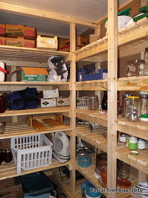 Positive Cold Room Plan  Food Storage Shelves and Vegetable Bins