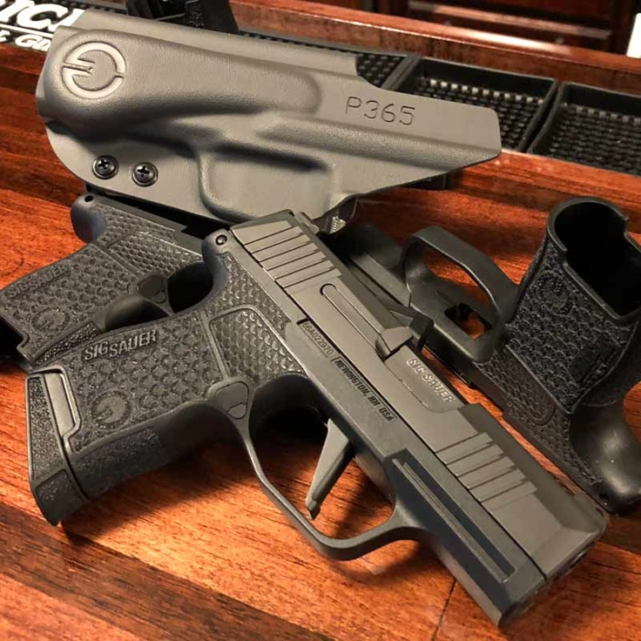 Grayguns Sig Sauer P365 Nitron. This is the custom Sig P365 that Halle Berry uses in John Wick 3.