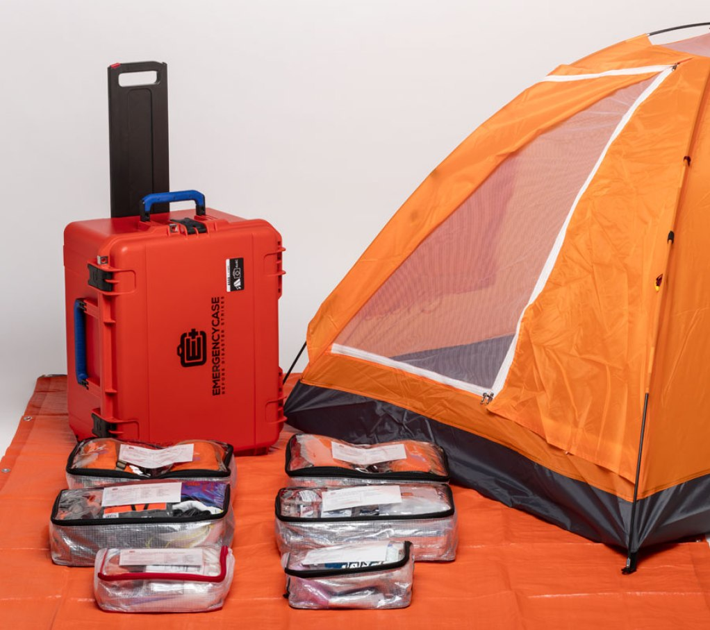 EMergency Case - The ultimate disaster kit, emergency survival case and bug out bag, sort of, that you're likely to find. Complete protection in any emergency.