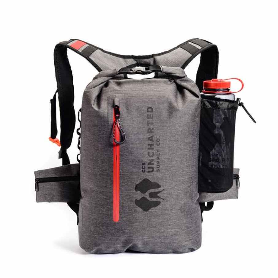 Uncharted Supply 72 Hour emergency survival kit. A sleek looking bag, a flotation device and everything you need to stay alive.