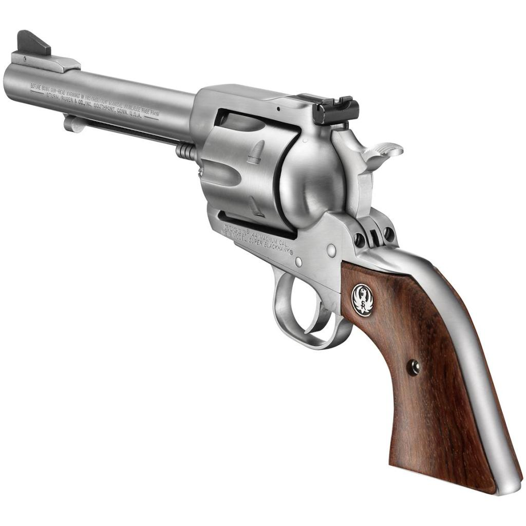 Ruger New Model Super Blackhawk for sale. The classic six shooter in 44 Rem Mag. Buy guns now.