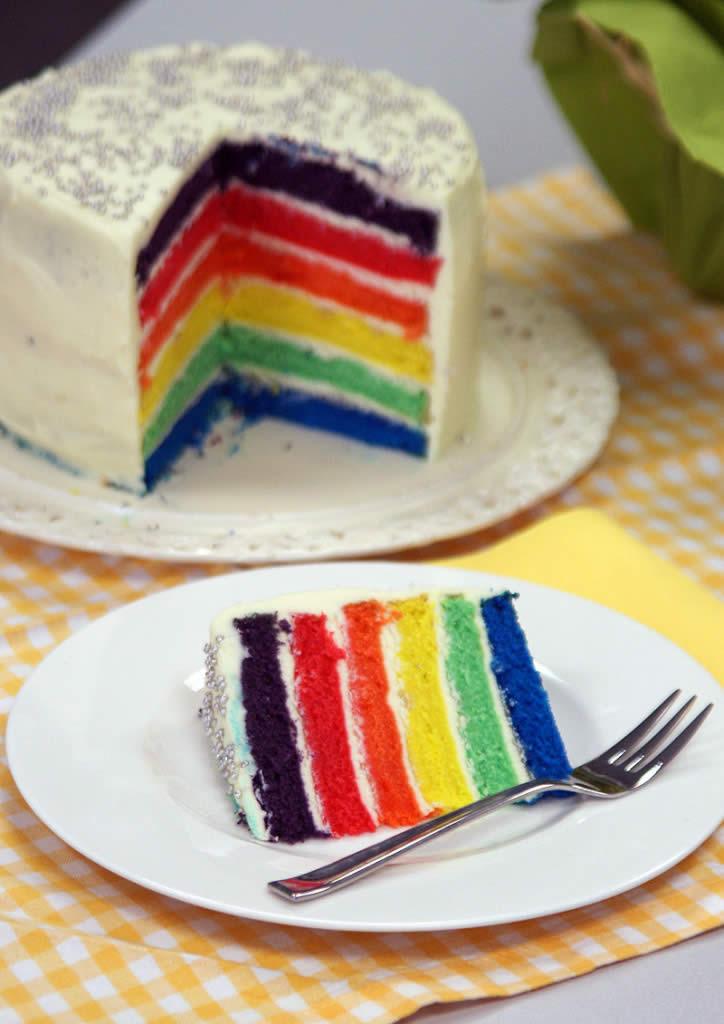 RainbowCake RegenbogenKuchen  USA kulinarisch