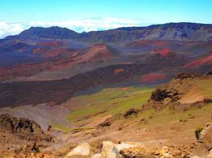 Vulkanlandschaft von Maui, Hawaii.