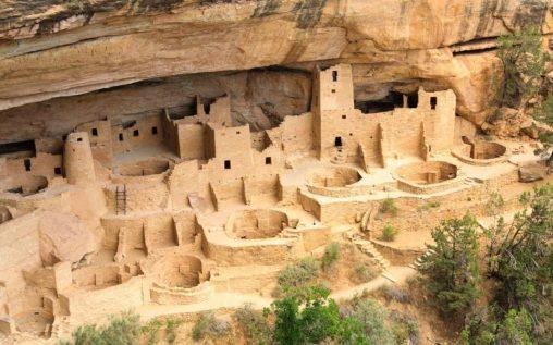 Die alten Ruinen von Mesa Verde.