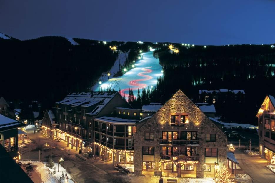 Night skiing in Keystone, Colorado