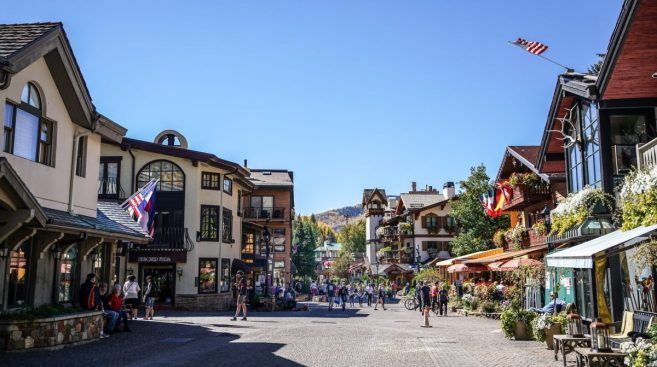 Vail Village in Colorado, USA