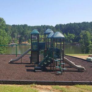 Beautiful lakeside park