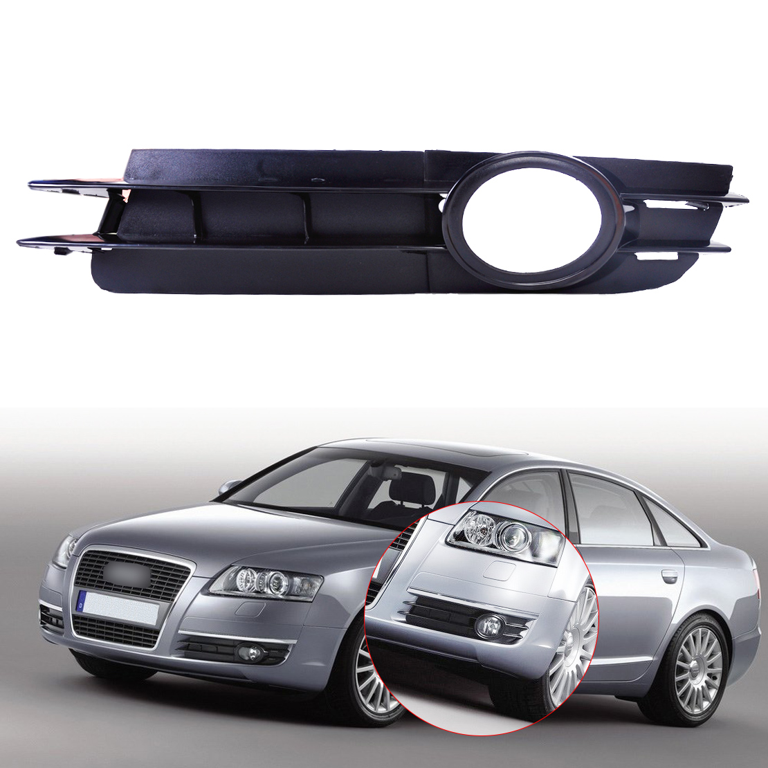 hight resolution of details about 4f080768a bumper fog light lamp grill grille front left for 05 08 audi a6 c6