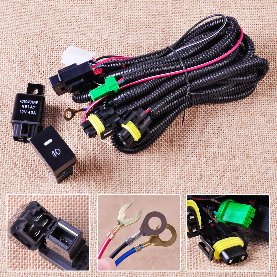 hight resolution of new wiring harness socket switch for h11 fog light lamp ford focus b16 wiring harness h11 wiring harness