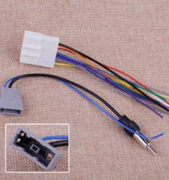details about 2 car radio install stereo wire harness cable antenna adapter for nissan subaru [ 1110 x 1110 Pixel ]