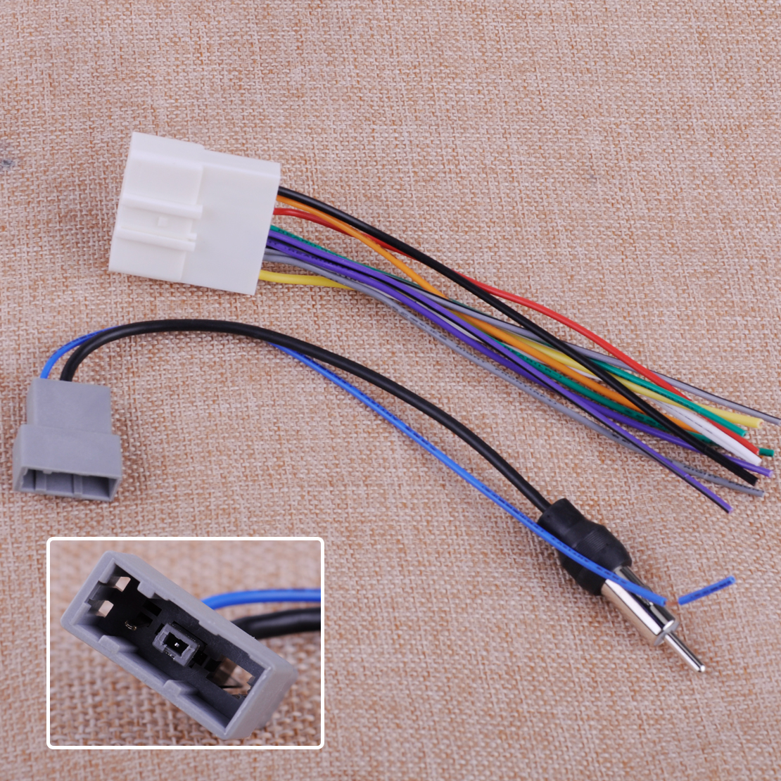 hight resolution of details about 2 car radio install stereo wire harness cable antenna adapter for nissan subaru