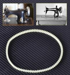 details about 13 33cm quality older model home sewing machine motor belt fit singer kenmore [ 1110 x 1110 Pixel ]