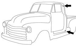 1947-51 Chevy & GMC Truck Rubber Door Bumper 4pc Set