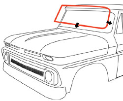 1960-63 Chevy & GMC Truck Standard Front Windshield Seal w