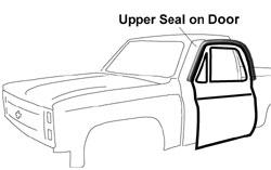 1978-82 Fullsize Chevy & GMC Truck Upper Seal on Door (pr