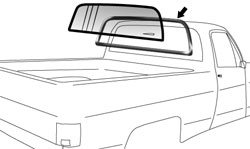 1973-87 Fullsize Chevy & GMC Truck Rear Glass Seal with