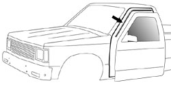 1982-93 Chevy S10 & GMC Sonoma Pickup Drip Weatherstrip