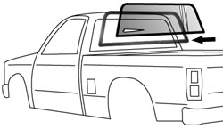 1982-93 Chevy S10 & GMC Sonoma Pickup Rear Window Seal (ea