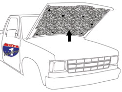 1982-93 Chevy S10 & GMC Sonoma Truck Hood Insulation