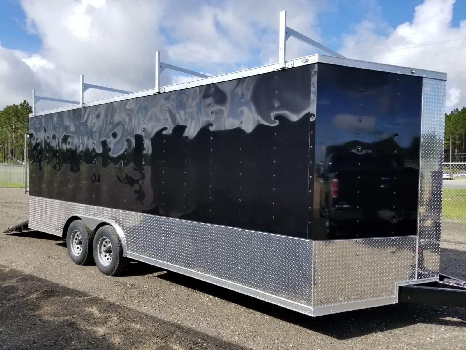 cargo trailer black 8 5x20 w ladder