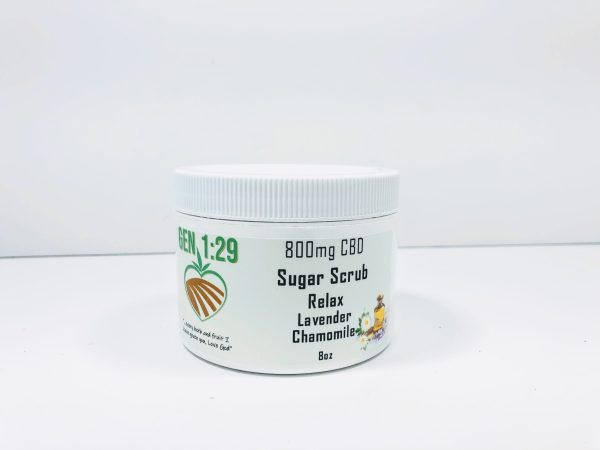 relax CBD 800mg sugar scrub