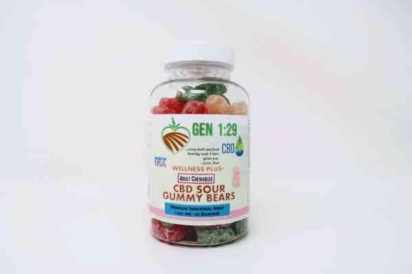 1500mg cbd sour bear gummies