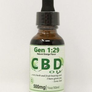 orange CBD oil 500mg isolate