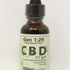 CBD isolate oil 2500mg