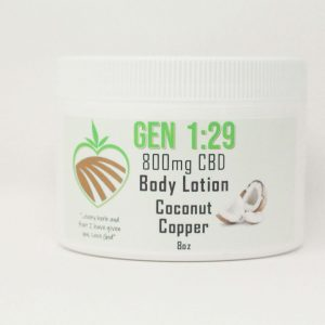 coconut copper CBD body cream