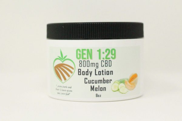 Cucumber melon CBD body cream