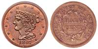 1847 Braided Hair Half Cents Original - Proof Only Early ...