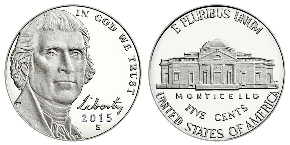 2015 S Jefferson Nickels Return to Monticello: Value and
