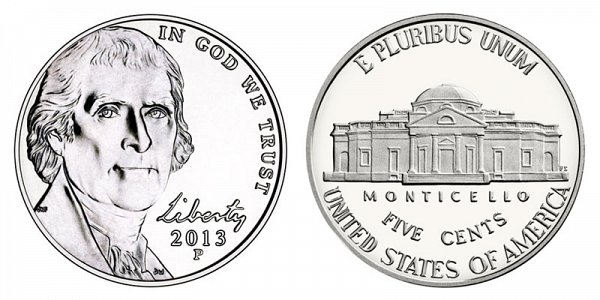 2013 P Jefferson Nickel Coin Value Prices, Photos & Info