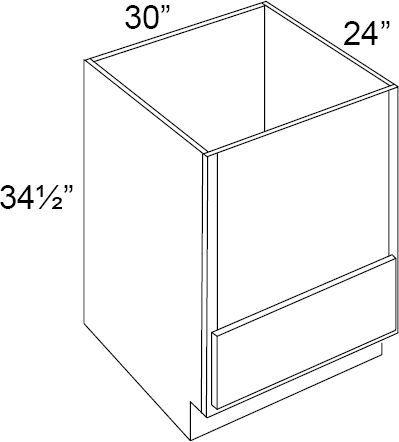 fabuwood allure galaxy horizon 30w microwave base cabinet