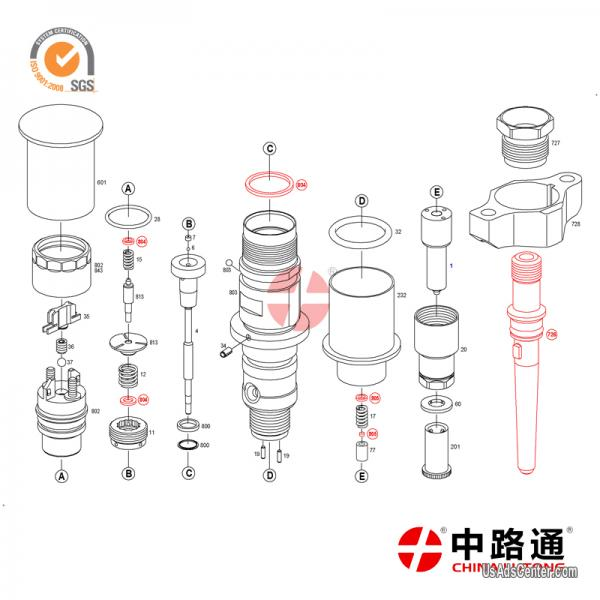 0 445 120 215 Common rail injection Injector For Bosch
