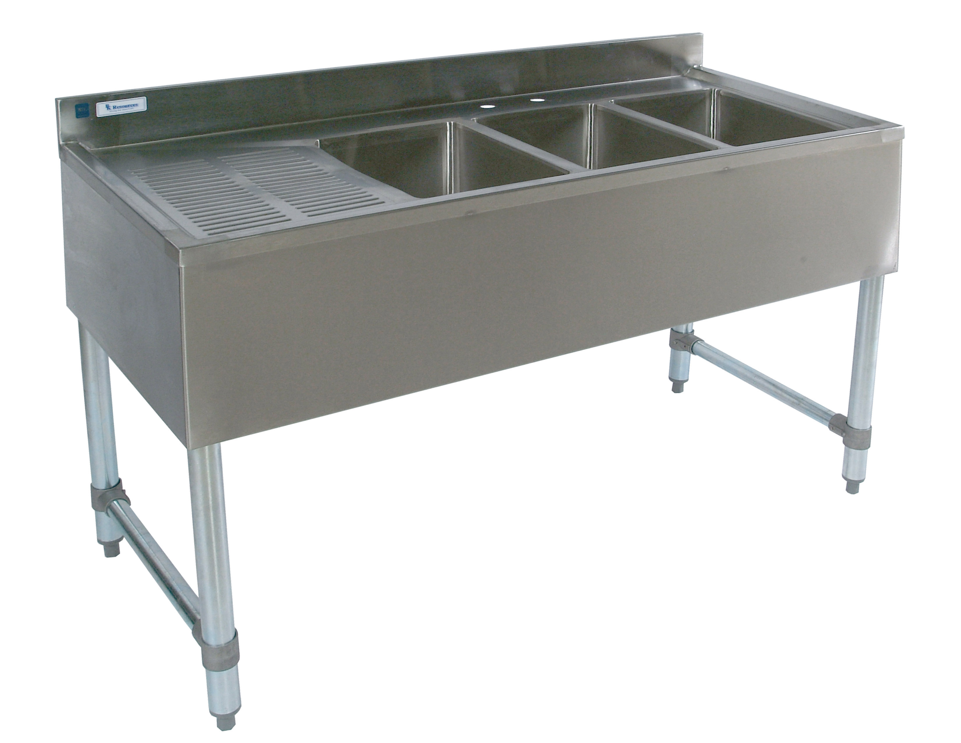 stainless steel 3 compartment bar sink bar sink with drainboard