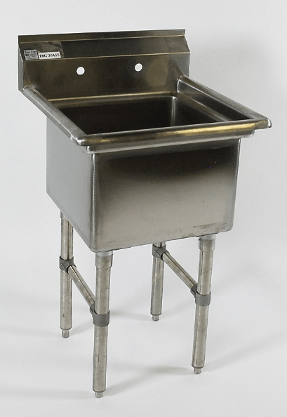 free standing stainless steel utility sinks
