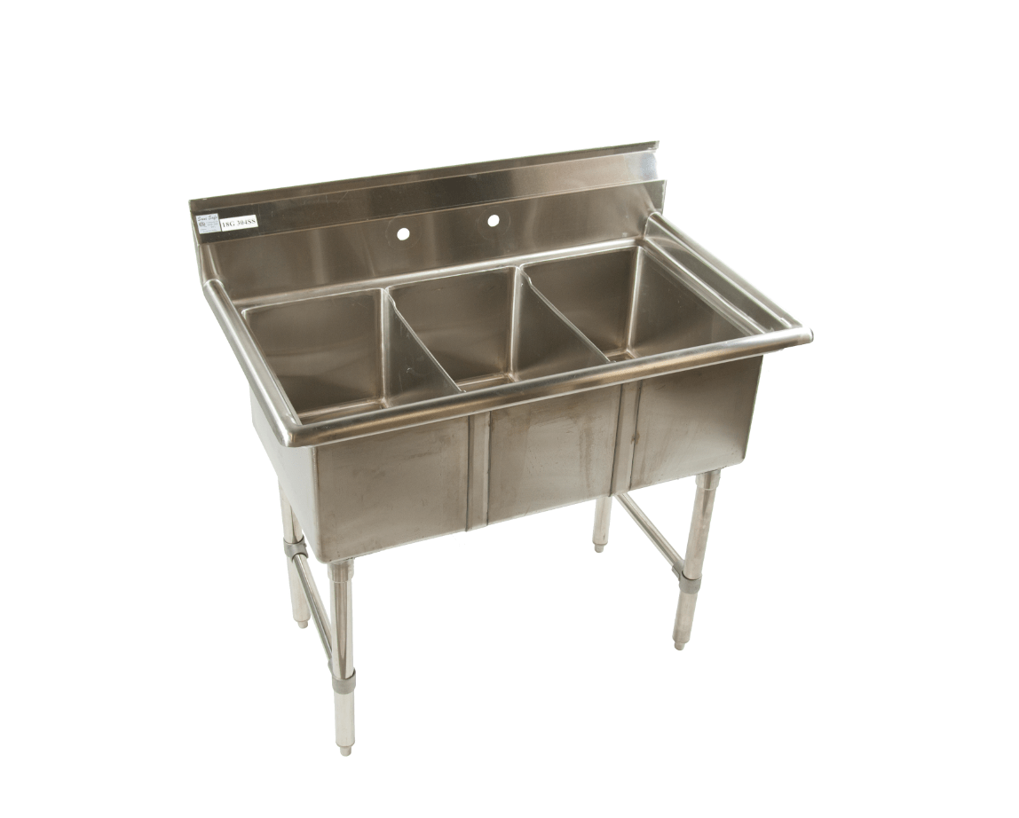 small three compartment sinks