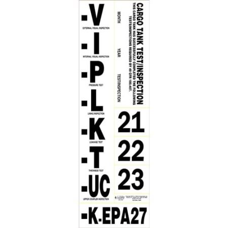 Cargo Tank Annual Vehicle Inspection Label, Vehicle