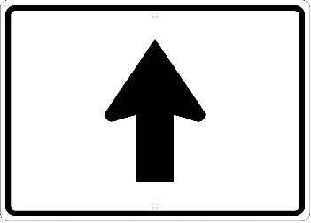 High Intensity Reflective Auxiliary Arrow Straight Sign