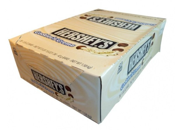 Hershey39s Cookies n Cream 155 oz bar Case Buy 36 bars