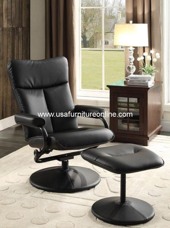 Homelegance Alida Swivel Recliner and Ottoman 8555
