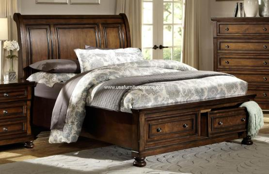 Homelegance Cumberland Storage Bed and Nightstand