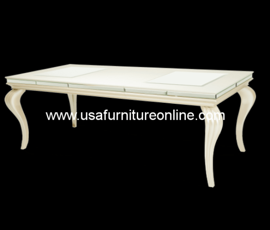 Hollywood Loft Frost Dining Table