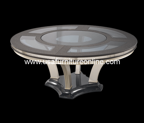 Hollywood Swank Caviar Round Dining Table