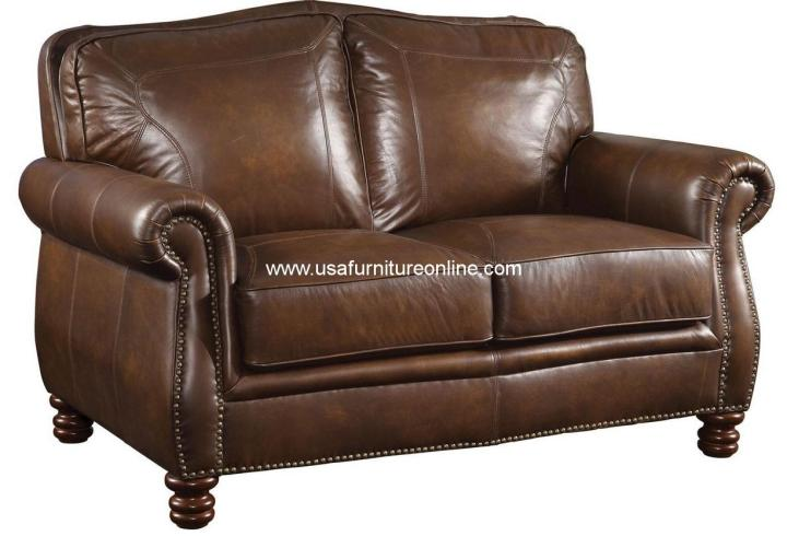 Montbrook Leather Loveseat