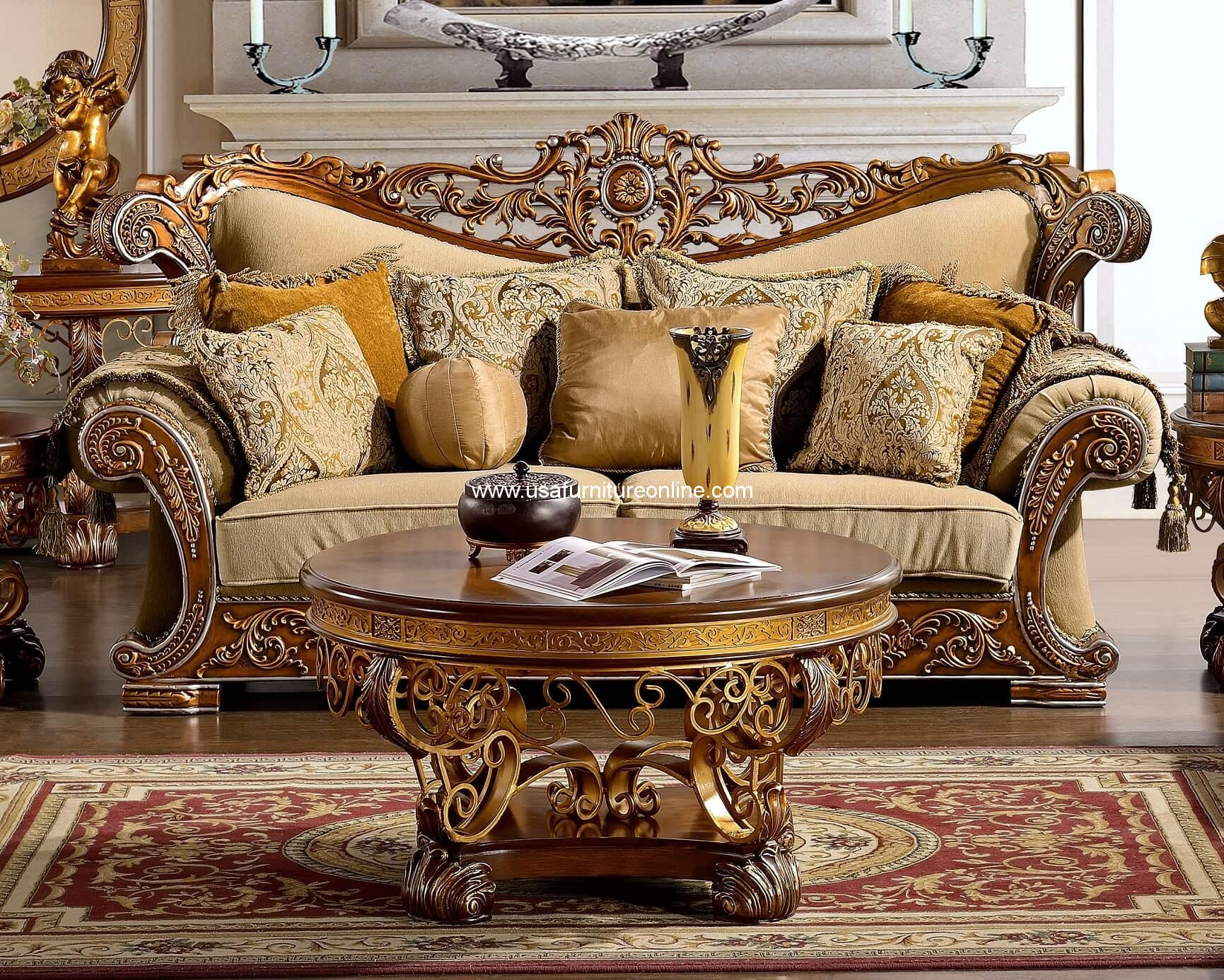 Royal Golden Sofa HD 369
